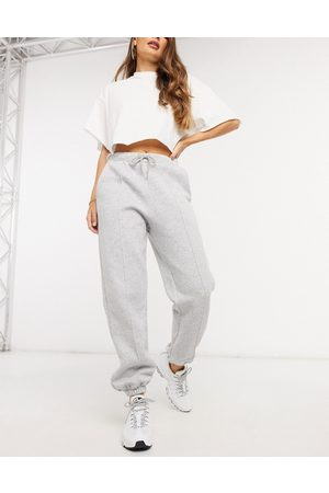 ASOS Oversized jogger with pintuck in grey marl