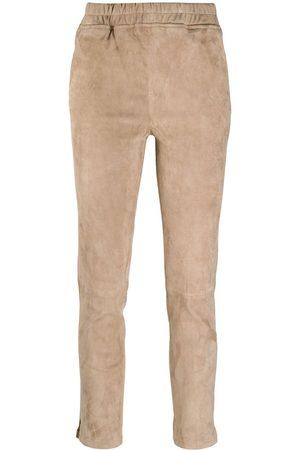 arma leder Slim-fit pull-on trousers