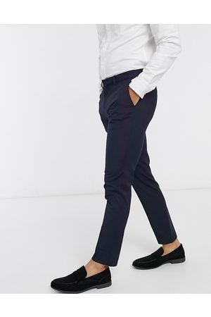 River Island Muži Chino - Smart trousers in navy