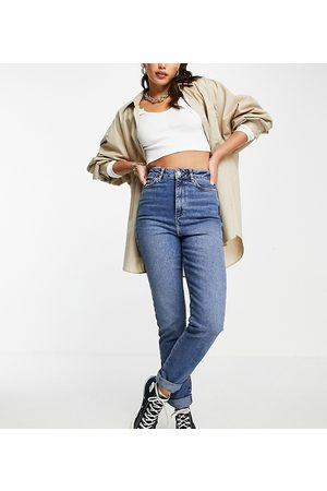 New Look Mom jeans in mid blue