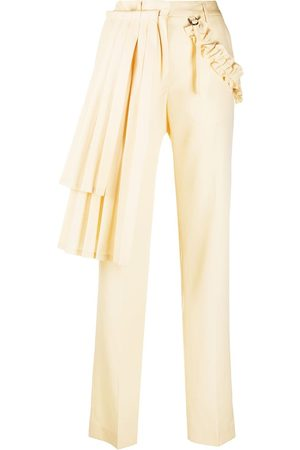 OFF-WHITE Pleated panel tailored trousers