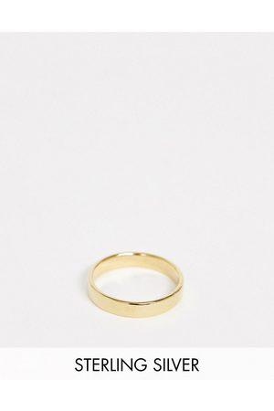 ASOS Sterling silver ring in 14k gold