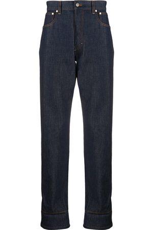 Ami Contrasting hem straight-leg jeans