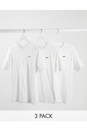 Reebok 3 pack t-shirts in white