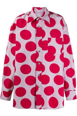Marni Oversized maxi polka-dot shirt