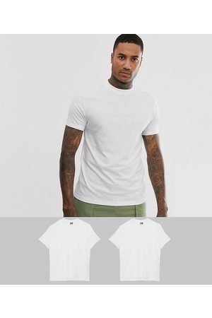 ASOS 2 pack organic t-shirt with crew neck save-White