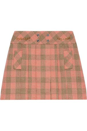 Gucci Optical check-pattern mini skirt