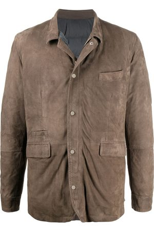 BARBA Suede panel jacket