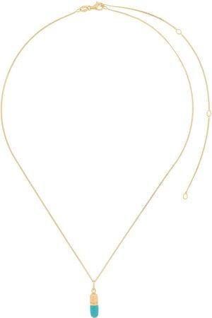 TRUE ROCKS Two-tone pill pendant necklace