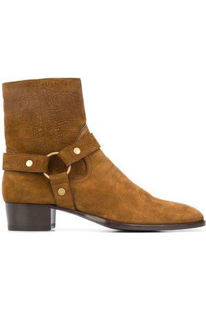 Saint Laurent Wyatt 40mm harness boots