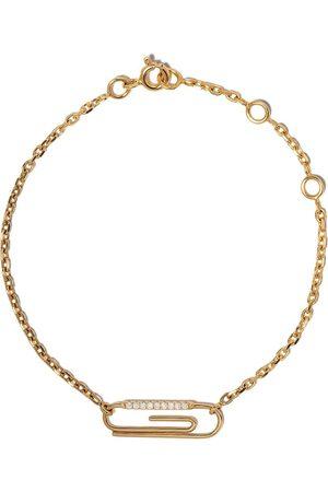 Aurélie Bidermann Ženy Náramky - 18kt yellow gold Paper clip diamond bracelet