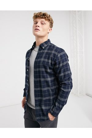 Selected Muži Volnočasové - Flannel shirt in grey check