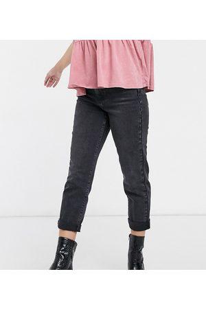New Look Waist enhancing mom jeans in black