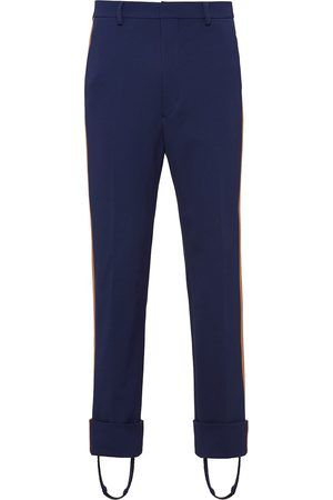 Prada Side-stripe straight-leg stirrup trousers