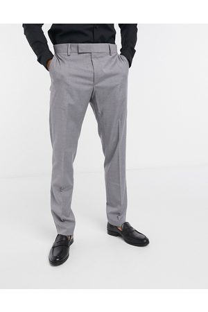ASOS DESIGN Slim smart trousers in grey