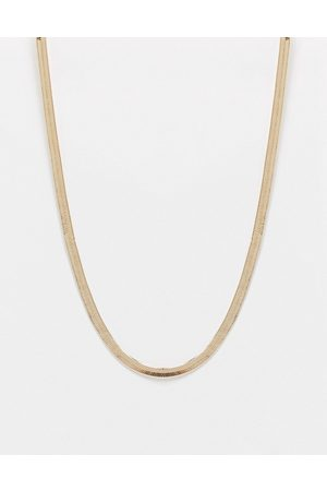 ASOS Necklace in 4mm herringbone chain in gold tone