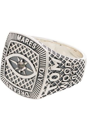 TOM WOOD Logo-engraved sterling silver ring
