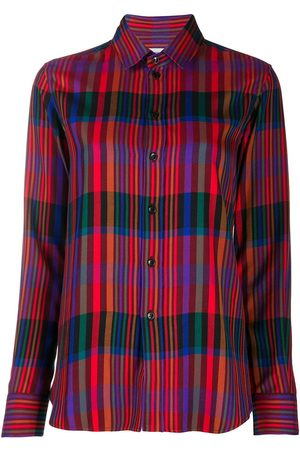 Saint Laurent Tartan check buttoned shirt