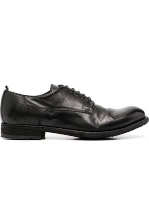 Officine creative Journal cracked-effect derby shoes