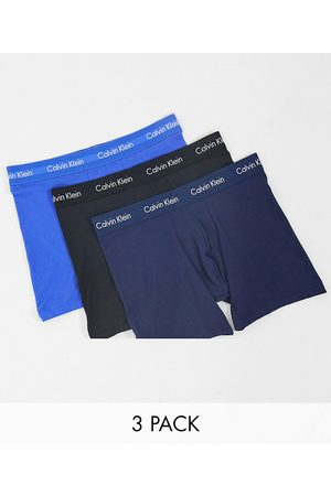 Calvin Klein 3 pack boxer briefs with logo waistband in multi