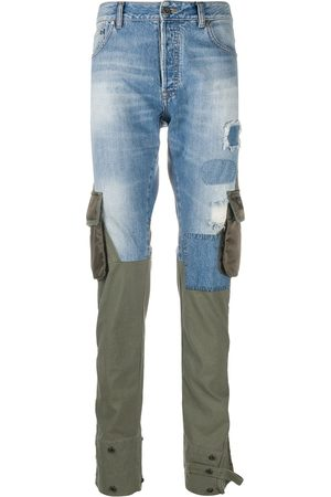 Paul & Shark Hybrid denim-cargo trousers