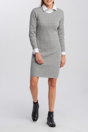 GANT Šaty Stretch Cotton Cable Dress