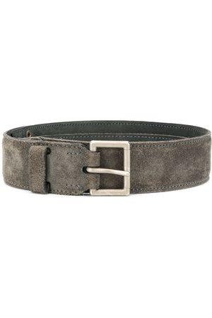 Alaïa Square buckle textured belt