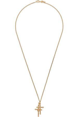 EMANUELE BICOCCHI Double crucifix skull necklace