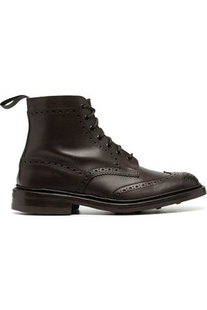 TRICKERS Burnished brogue-detail boots