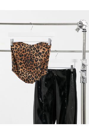 ASOS Hourglass bandeau corset in animal print-Multi