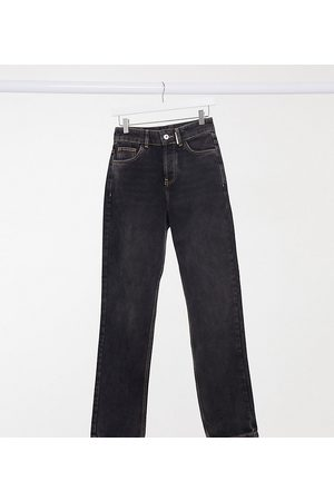 COLLUSION Rovné nohavice - X000 Unisex 90's fit straight leg jeans in washed black