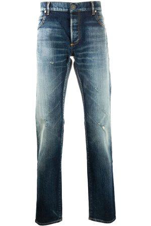 Balmain Distressed effect denim jeans