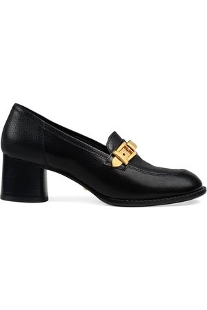 Gucci Chain-detail 55mm block-heel loafers