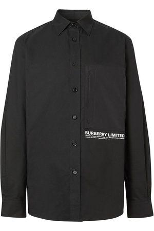 Burberry Logo-print buttoned shirt