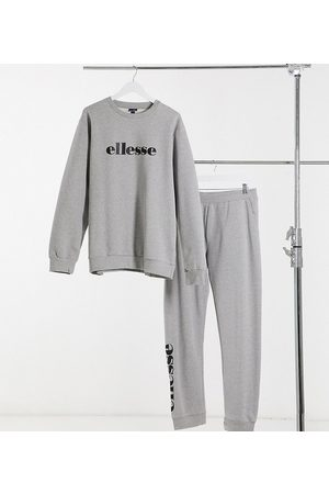 Ellesse PLUS sweatshirt & jogger set in grey
