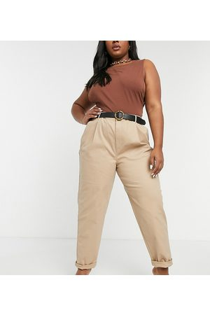 ASOS ASOS DESIGN Curve hourglass chino trousers in stone