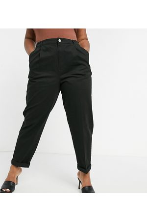 ASOS ASOS DESIGN Curve hourglass chino trousers in black