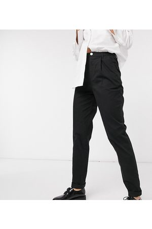 ASOS ASOS DESIGN Tall hourglass chino trousers in black