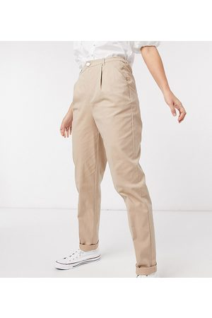 ASOS ASOS DESIGN Tall hourglass chino trousers in stone