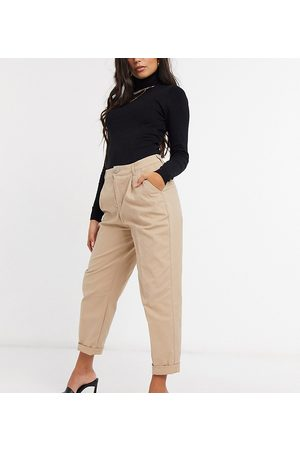 ASOS ASOS DESIGN Petite hourglass chino trousers in stone