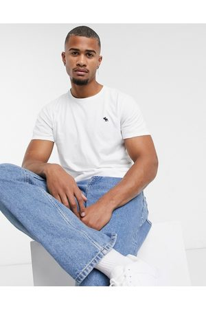 Abercrombie & Fitch Icon logo crew neck t-shirt in white