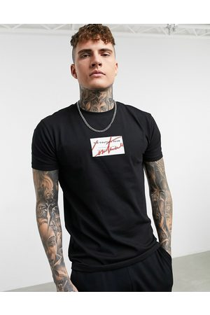 The Couture Club Archive box logo t-shirt in black
