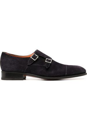 santoni Double-buckle monk shoes