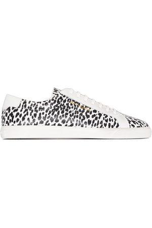 Saint Laurent Muži Tenisky - Andy leopard-print low-top sneakers