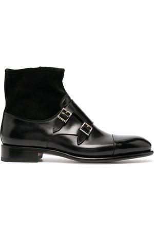 santoni Muži Do práce - Double monk strap boots