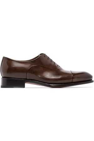 santoni Muži Oxfordky - Classic lace-up oxford shoes