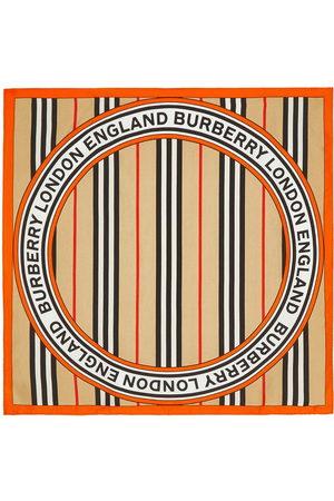 Burberry Icon stripe small square scarf