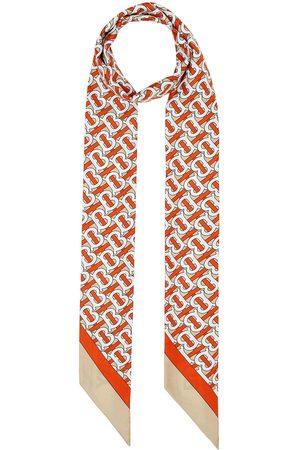 Burberry Monogram logo skinny scarf