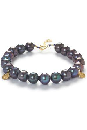 The Alkemistry Peacock pearl bracelet