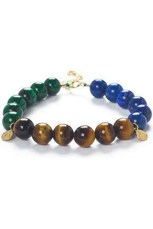 The Alkemistry Trio block beaded bracelet